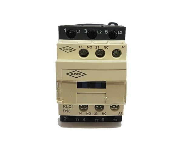 کنتاکتور کاوه مدل KLC1-D1811 ولتاژ بوبین 220V