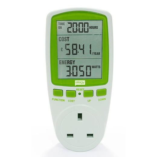 نمایشگر پریزی مصرف و هزینه انرژی لوازم برقی